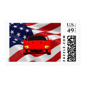 Cool racing car design cards and paper products postage