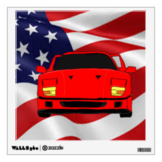 Cool racing car design cards and paper products room sticker