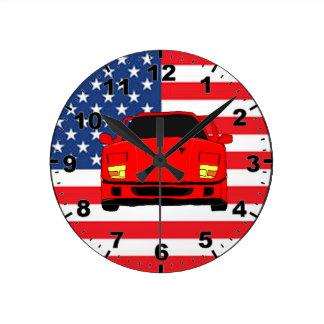 Cool racing car design wall clocks