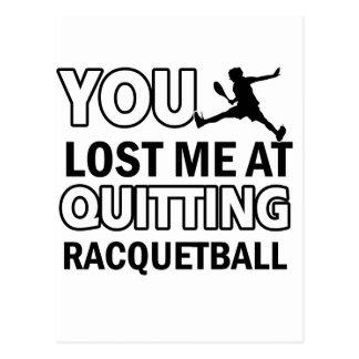 Cool Racquet ball designs Postcards