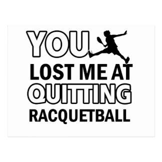 Cool Racquet ball designs Post Cards