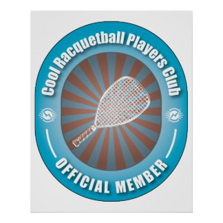 Cool Racquetball Players Club Posters