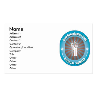 Cool Radiologists Club Business Card