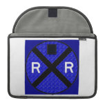 Cool Railroad Crossing Sign Sleeves For MacBook Pro