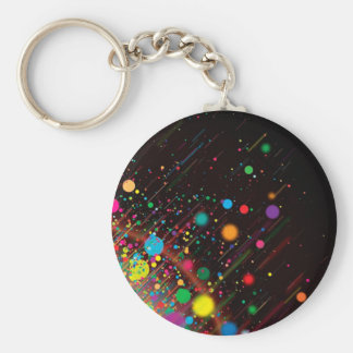 Cool Rainbow Color Abstract Design Keychain