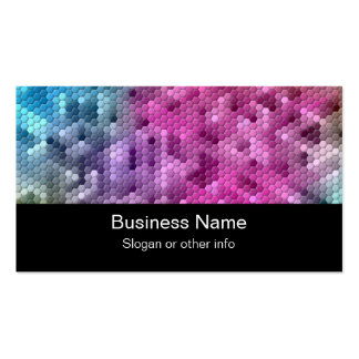 Cool Rainbow Color Mosaic Business Card