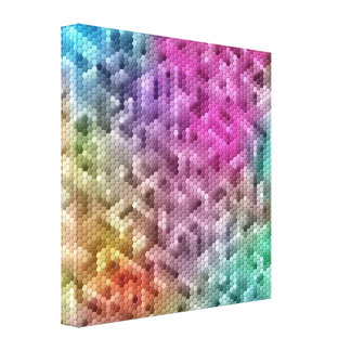 Cool Rainbow Color Mosaic Canvas Print