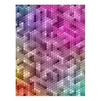 Cool Rainbow Color Mosaic Postcard