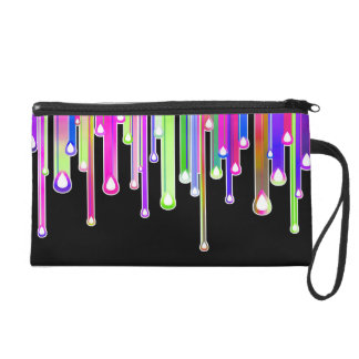 Cool Rainbow Colors Icicles & Dripping Icing Wristlet Purse