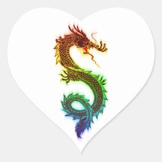 Cool Rainbow Dragon Heart Sticker