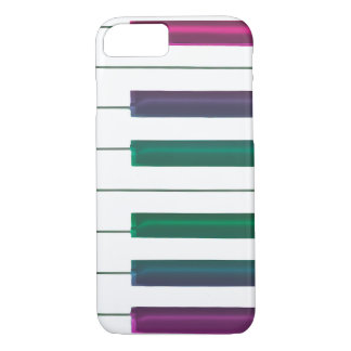 Cool Rainbow Keys Piano Music iPhone Case