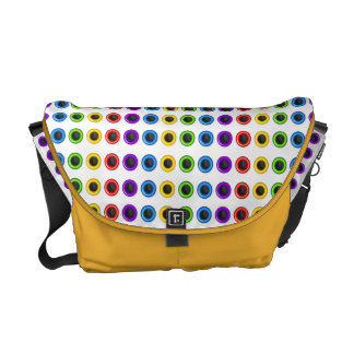 """Cool rainbow """"polka dot"""" bright courier bags"""