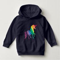 Cool Rainbow Unicorn Watercolor Kids Beautiful Hoodie