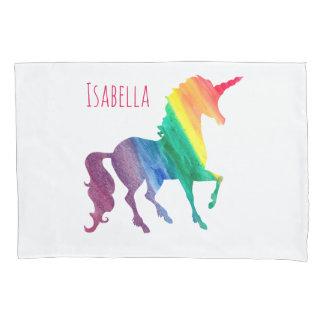 Cool Rainbow Watercolor Unicorn Beatiful Kids Pillowcase