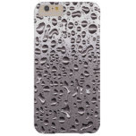 Cool Raindrops on Metal Stainless Steel Look Barely There iPhone 6 Plus Case