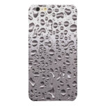 Cool Raindrops on Metal Stainless Steel Look Glossy iPhone 6 Plus Case