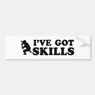 cool rap skills designs bumper sticker