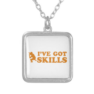 cool rap skills designs silver plated necklace
