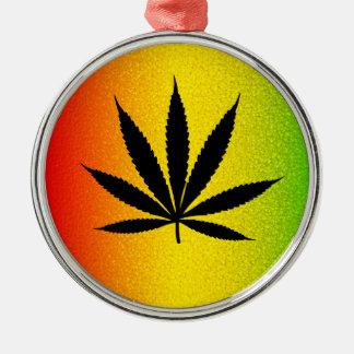 Cool Rastafari Reggae Rasta Leaf Jamaican Irie Metal Ornament