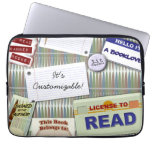 Cool Reader's Collage Computer Sleeve
