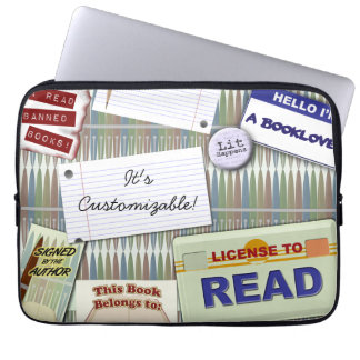 Cool Reader's Collage Laptop Computer Sleeves