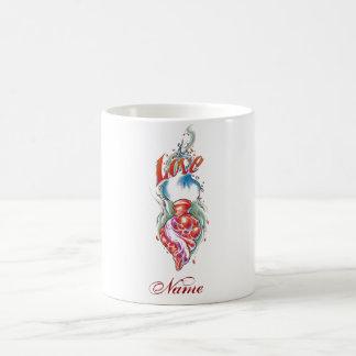 Cool Realistic Heart Love tattoo  mug