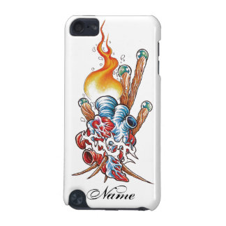 Cool Realistic Heart with Flame tattoo iPod Touch 5G Cases