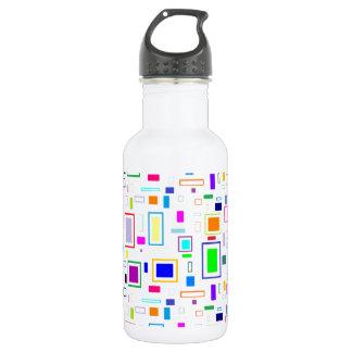 cool rectangular design stainless steel water bottle