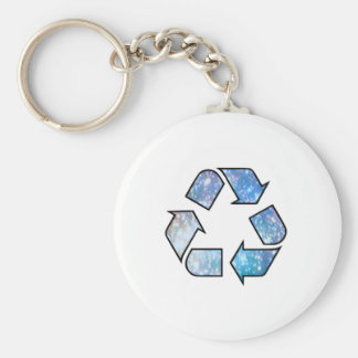 Cool Recycling Symbol Keychain