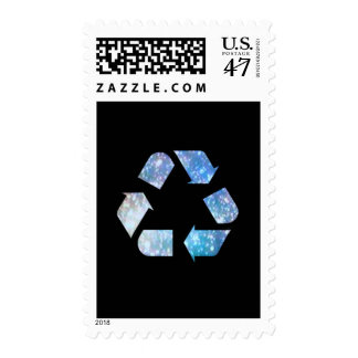 Cool Recycling Symbol Postage