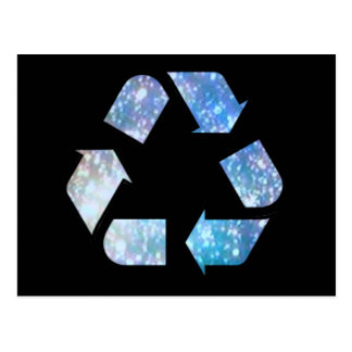 Cool Recycling Symbol Postcard