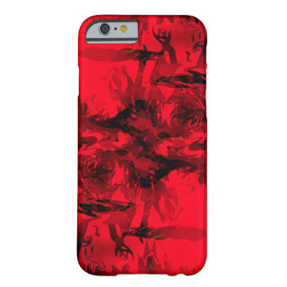 Cool Red and Black Abstract Design Barely There iPhone 6 Case