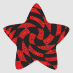 Cool red and black punk abstract star star sticker