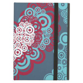 Cool Red and Blue Hearts Circles Pattern iPad Cases