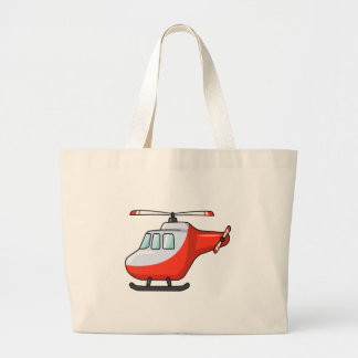 Cool Red and White Cartoon Helicopter Bag
