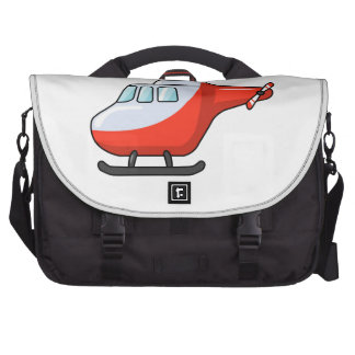 Cool Red and White Cartoon Helicopter Laptop Computer Bag