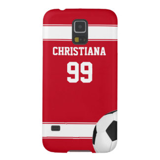 Cool red and white stripes jersey soccer ball case for galaxy s5