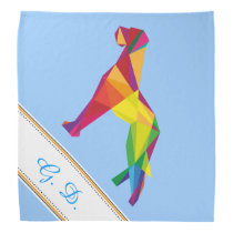 Cool red and yellow abstract Great Dane illustrati Bandana