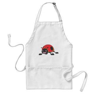 Cool Red Baby Ladybug Cartoon Adult Apron