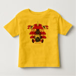 Cool red baron plane kids t-shirt