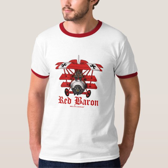 Cool red baron plane t-shirt design