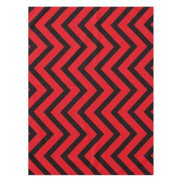 Halloween Themed Cool red black Chevron  tablecloth
