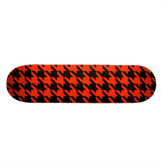 Cool Red Black Design Awesome Funky Houndstooth Skate Board Deck