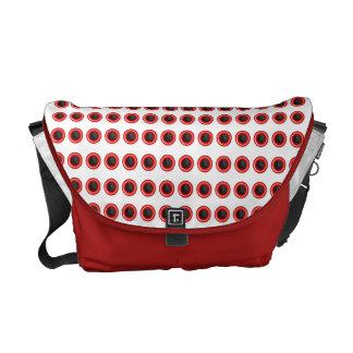 """Cool Red black """"polka dot"""" pattern Commuter Bag"""