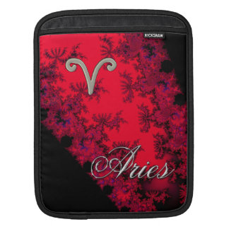 Cool Red Black Zodiac Sign Aries Astrology iPad Sleeve