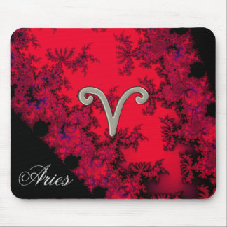 Cool Red Black Zodiac Sign Aries Astrology Mouse Pad