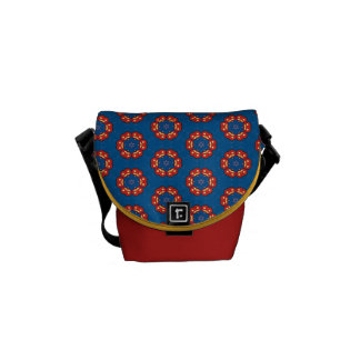 Cool Red Blue Yellow Bright Colorful Purse Bag