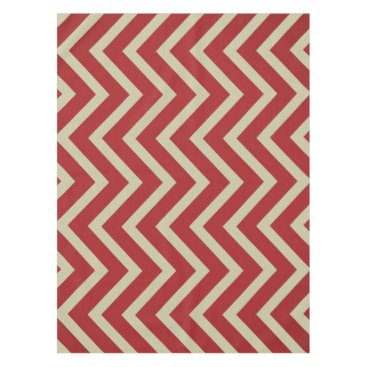 Halloween Themed Cool red Burgundy taupe Chevron  tablecloth