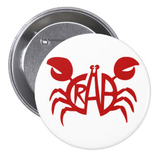 Cool Red Crab Button Design