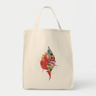 Cool Red Dragon in Scar tattoo Tote Bag
